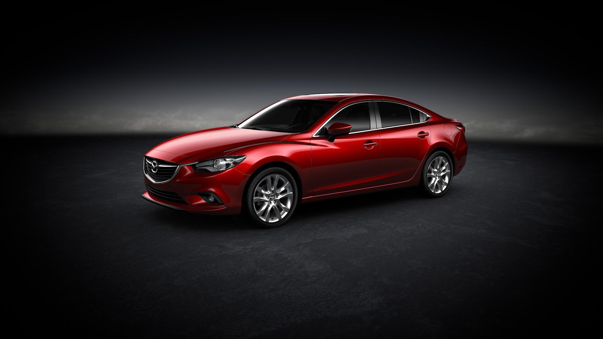 красный спортивный автомобиль mazda 6  № 990268 без смс