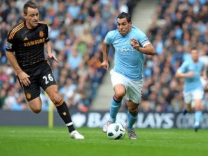 Manchester City - Chelsea 1-0: il video del gol di Tevez, Premier League.