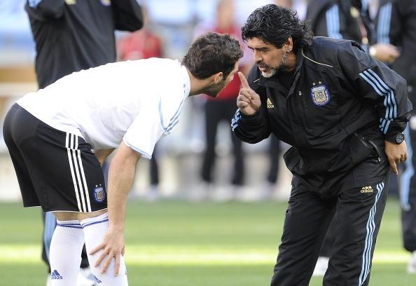 Higuain e Maradona