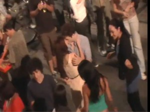 robert pattinson kristen stewart: bacio sul set