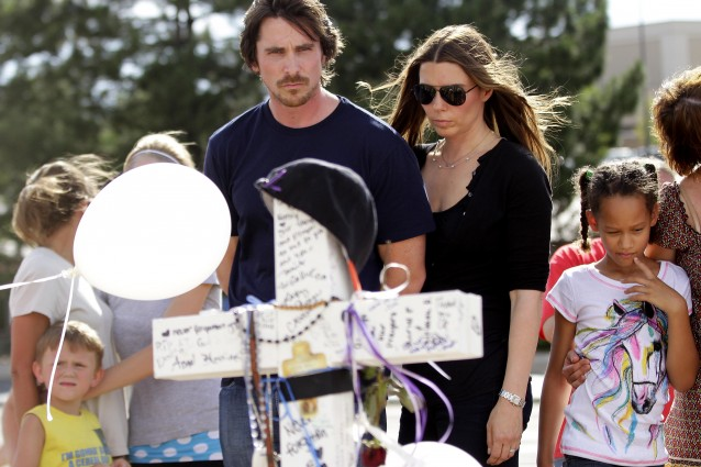 """Dark Knight"" Star Christian Bale Visits Aurora, CO After Theater Shootings"