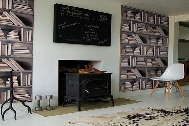 Carte da parati adesive idee per il design della casa for Carte adesive per mobili