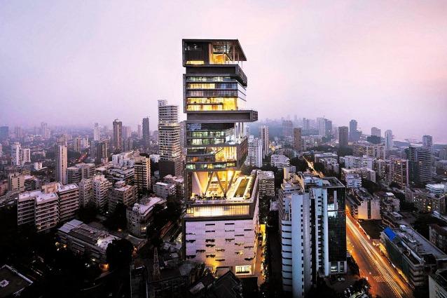 Antilia la casa pi costosa e grande del mondo for Poco costoso per costruire piani di casa