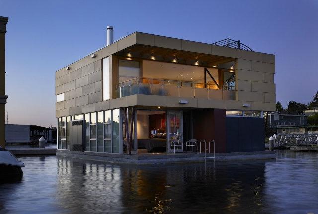 Sospesa sul lago design fanpage for Costruire una casa sul lago