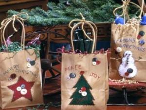 Pacchi di natale decorazioni e sacchetti fai da te per i for Sacchetti di carta fai da te