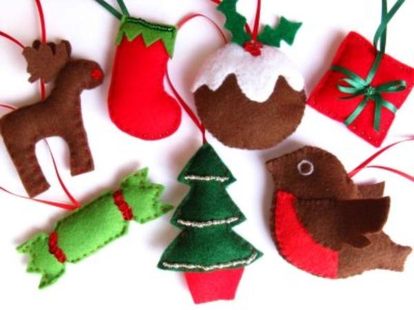 Decori natalizi fai da te per il 2010 creazioni in - Decorazioni natalizie con materiale riciclato ...