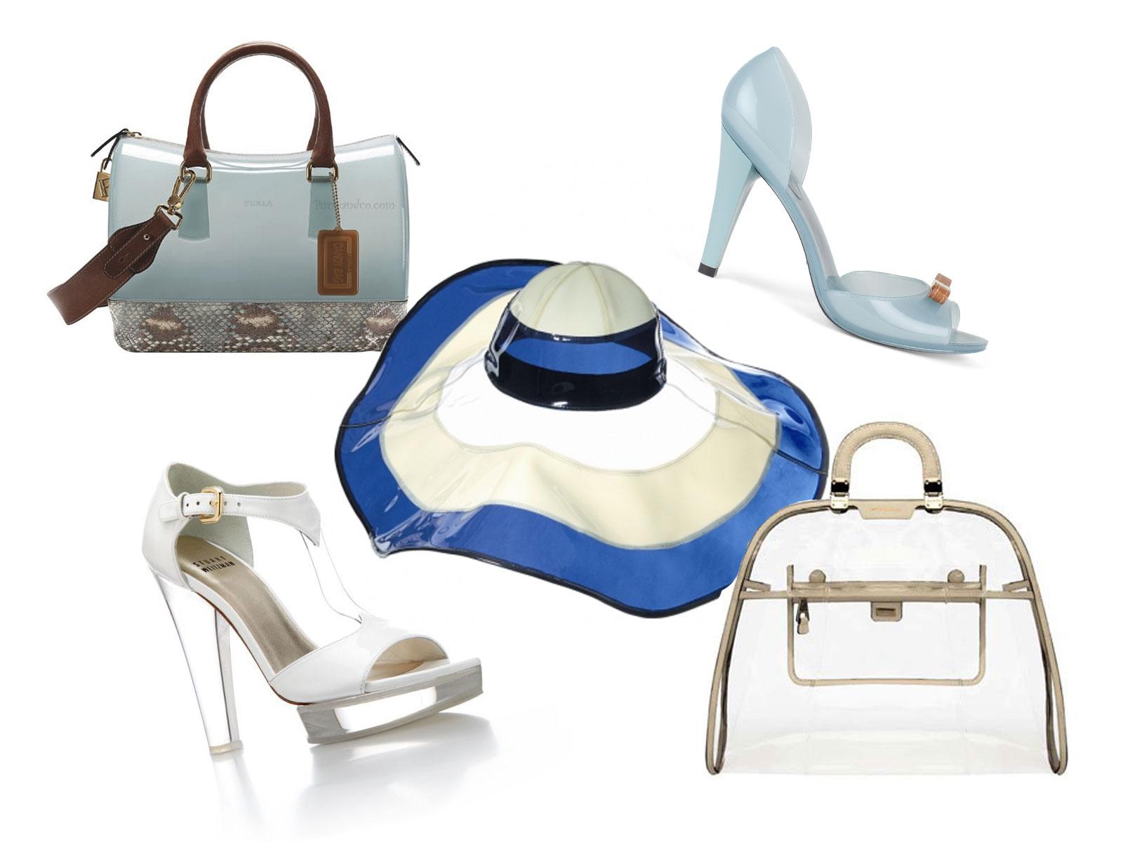 Borse Di Moda In Plastica : Una moda di plastica scarpe borse e accessori da spiaggia
