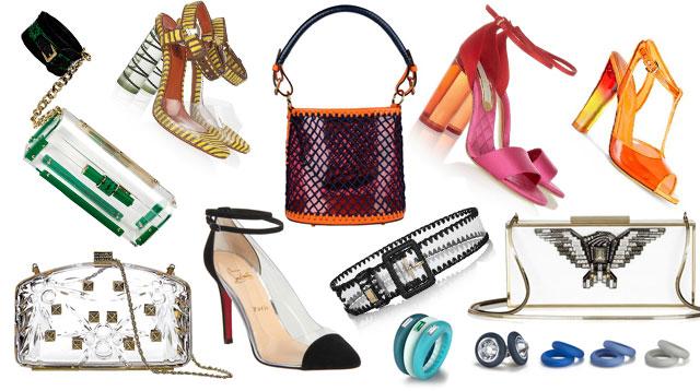Borse Di Plastica Di Moda : Una moda di plastica scarpe borse e accessori da spiaggia