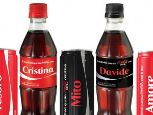 Arrivano le lattine Coca Cola personalizzate con il proprio nome