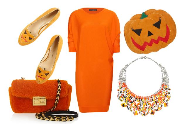 ad halloween vestiti d'arancione