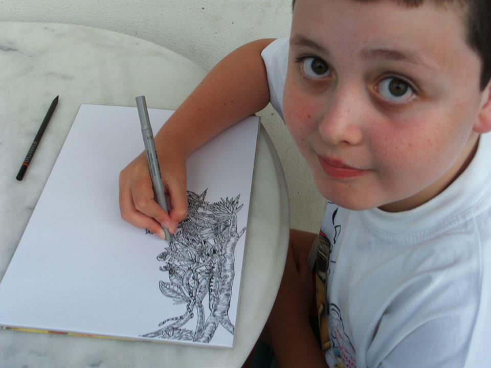 Il bambino prodigio che a 11 anni disegna come un artista for Disegna i miei piani di casa