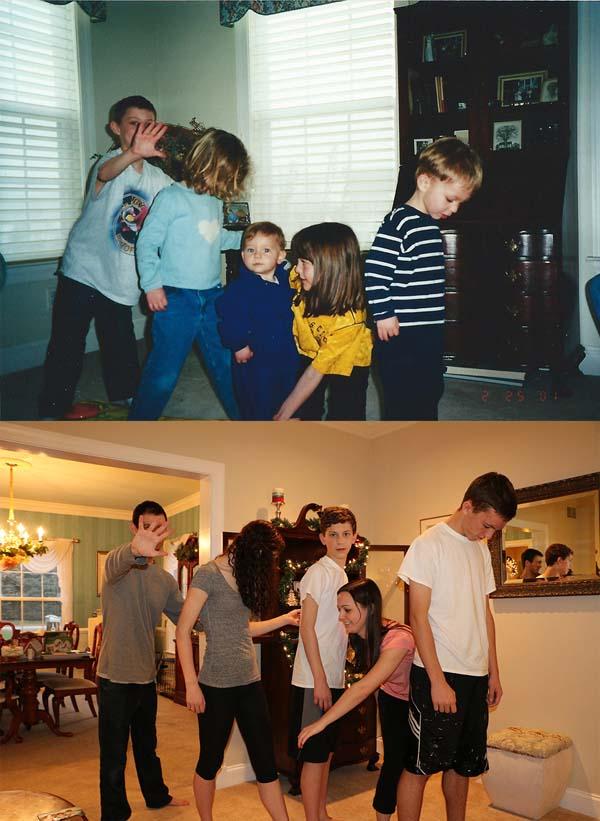 Le foto dei 5 figli per i genitori