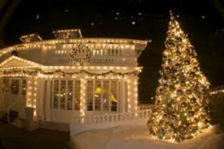 Luci natalizie per esterni