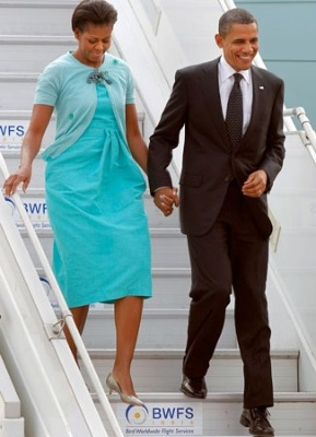 abito-celeste per la signora obama