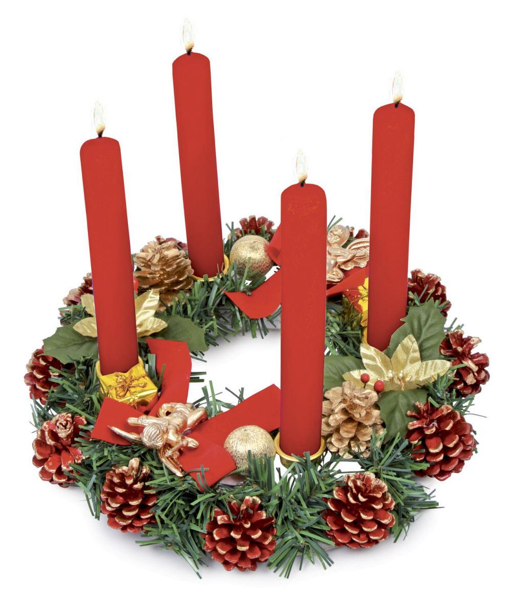 Per le feste di natale addobba la casa con pigne dorate - Decorazioni natalizie con candele ...