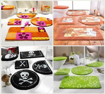 Tappeti moderni rinnova arredamento di casa con colori moda donna fanpage - Set tappeti per bagno ...