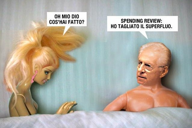 La spending review di Monti nel letto di Barbie