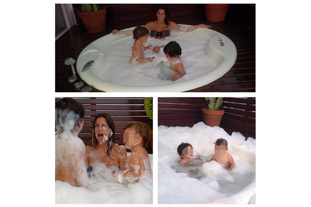 Con mamma claudia galanti il bagno in jacuzzi bellissimo for Cani che non vogliono fare il bagno