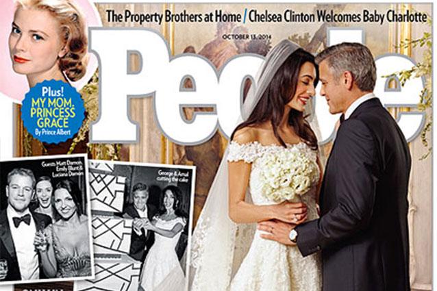 di George Clooney e Amal Alamuddin, le foto dellabito da sposa ...