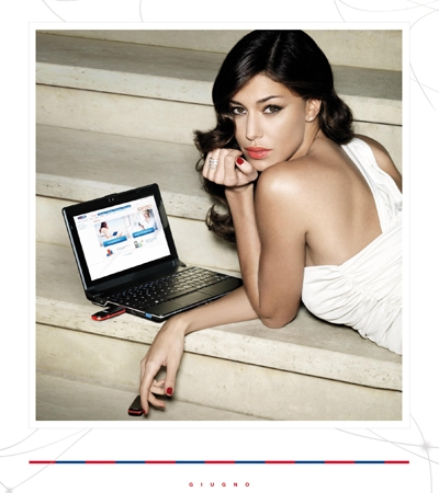 Belen Rodriguez calendario 2011 Giugno