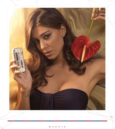 Belen Rodriguez calendario 2011 Maggio