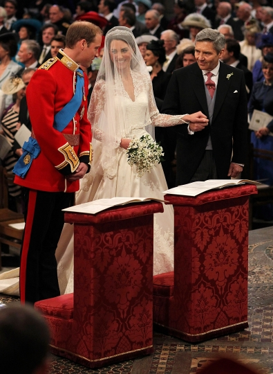 Kate e William sull\'altare