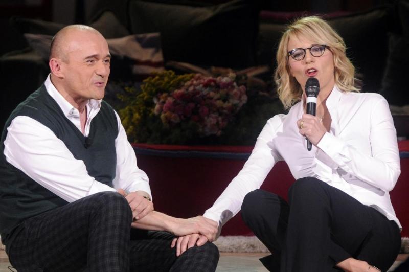 Maria e Alfonso durante l\'intervista