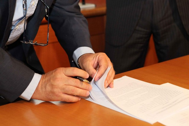 firma contratto di solidarietà difensivo