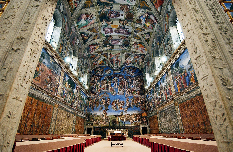 La cappella sistina torna a splendere nuova luce con 7mila led for Decorazione quattrocentesca della cappella sistina