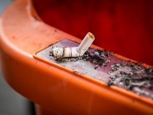 Peso fumante smesso in un torace
