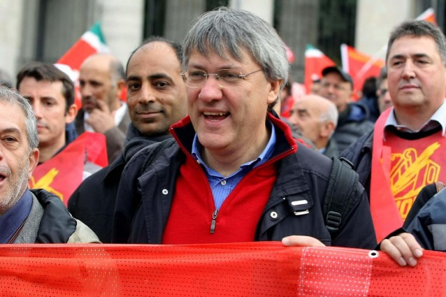 Tute blu (guidate dalla Fiom) in sciopero a Palermo$
