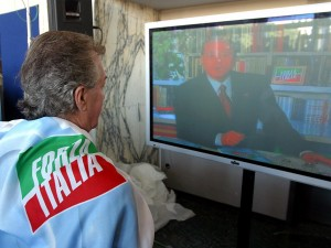 I fan di Berlusconi in Piazza