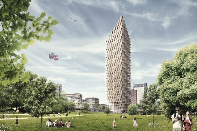 Nel futuro di stoccolma il grattacielo in legno pi alto for Il grattacielo piu alto del mondo