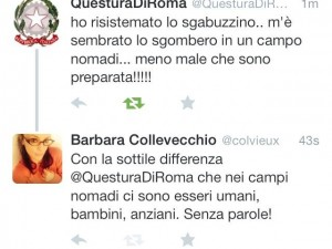 La Questura di Roma twitta contro i ROM (ma poi cancella).