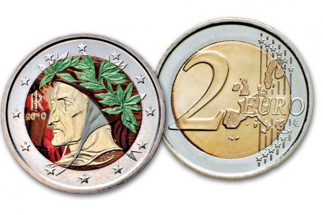 Monete da 2 Euro Valore Moneta da 2 Euro a Colori