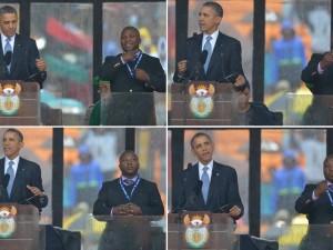 Beffa ai funerali di Mandela, finto interprete per sordi faceva gesti a caso (VIDEO).
