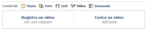 Il procedimento per postare velocemente un filmato su Facebook
