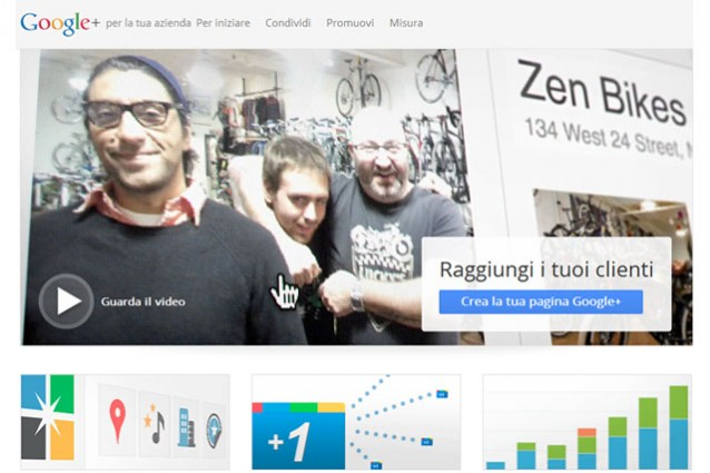 Google+, finalmente in arrivo le business pages.