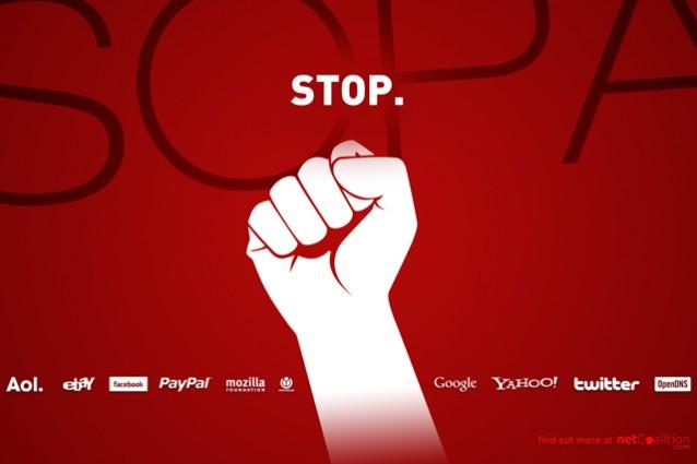 Stop sopa la rete insorge contro il bavaglio anche for Costo seminterrato di sciopero