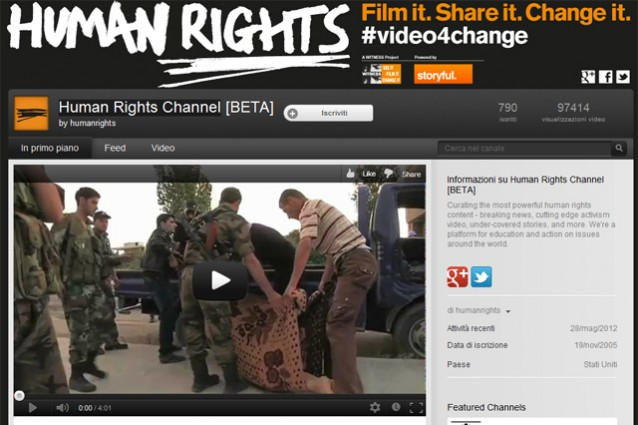 The Human Rights Channel, YouTube a favore dei diritti umani