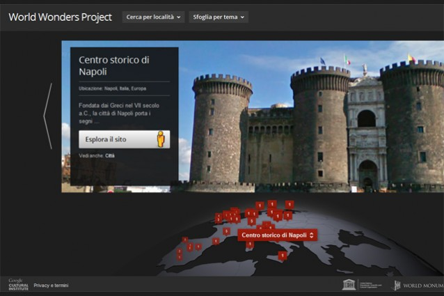 Google World Wonders Project, tour virtuale tra le meraviglie del mondo.