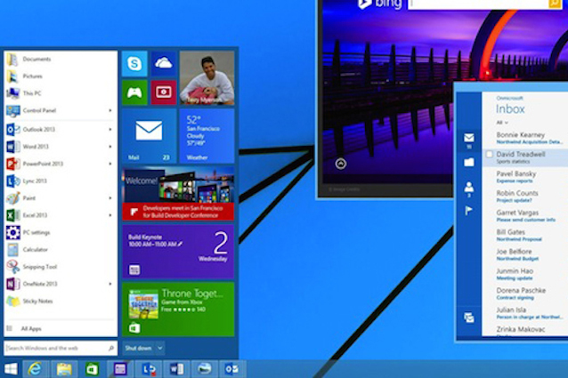 Il menu Start torna su Windows 8.1, ecco come sarà.