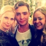 Lily e Chuck di Gossip Girl al wrap party