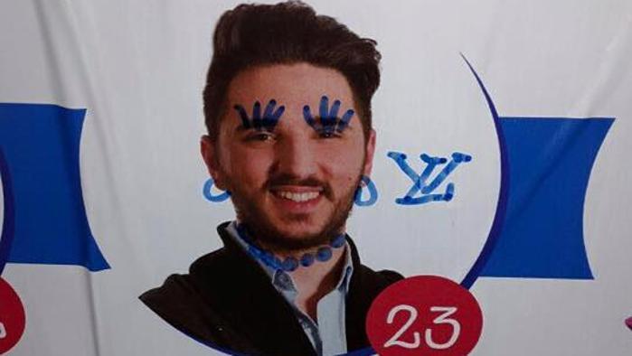 Aosta omofobi deturpano cartellone elettorale del for Stilista francese famoso