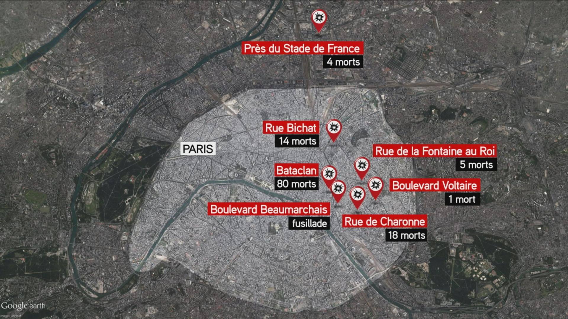 Attentati terroristici a Parigi: il bilancio della strage