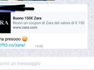 Buono sconto di 150 euro da Zara? È una bufala ormai virale su Whatsapp