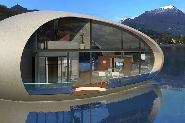 Sea suite series le vacanze del futuro saranno in case for A forma di casa piani con piscina cortile