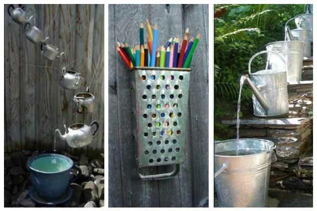20 modi originali per riutilizzare i vecchi utensili da cucina for Utensili da cucina di design
