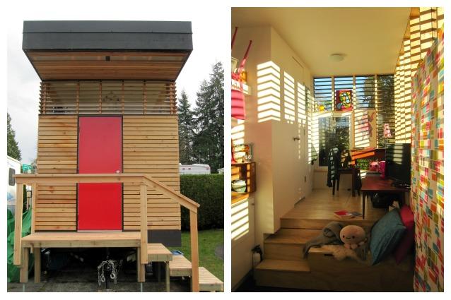 Vivere in 17 metri quadri la mini casa con tutti i comfort - Come calcolare metri quadri casa ...