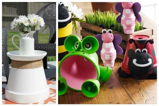 Come arredare casa e giardino con semplici vasi di terracotta - Arredare giardini piccoli ...